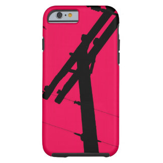 I (corazón) mi rosa funda-Caliente del iPhone 6 Funda Resistente iPhone 6