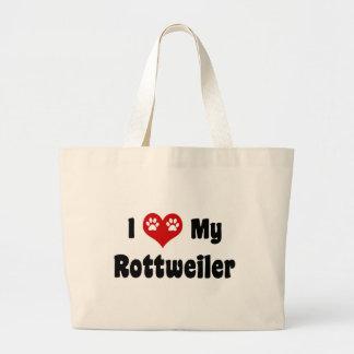 I corazón mi Rottweiler Bolsas