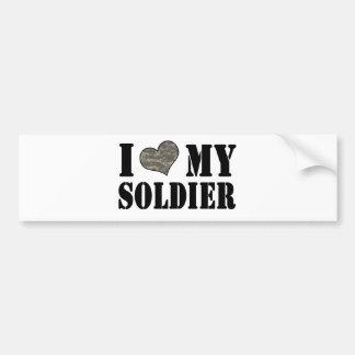 I corazón mi soldado pegatina para auto