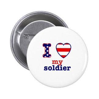 I corazón mi soldado pins