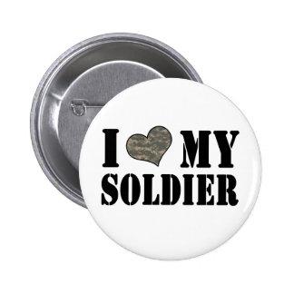 I corazón mi soldado pin