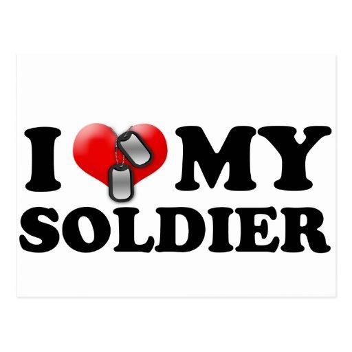 I (corazón) mi soldado postal