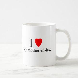 I corazón mi suegra taza de café
