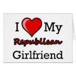 I corazón mi tarjeta republicana de la novia