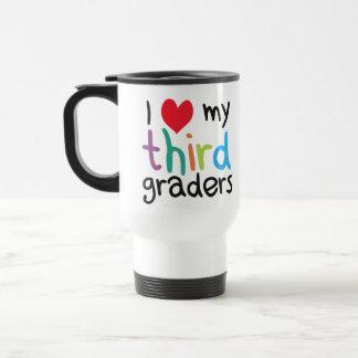 I corazón mi tercer amor del profesor de los taza de viaje de acero inoxidable