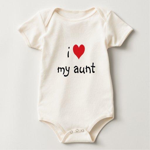 I corazón mi tía Shirt Mameluco