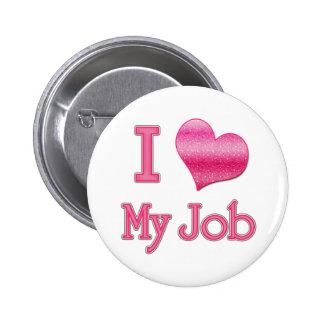 I corazón mi trabajo pin