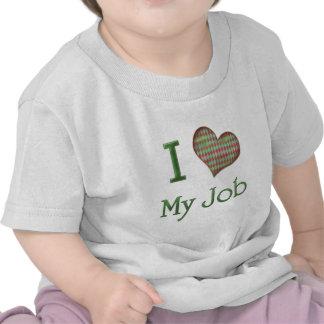 I corazón mi trabajo camisetas