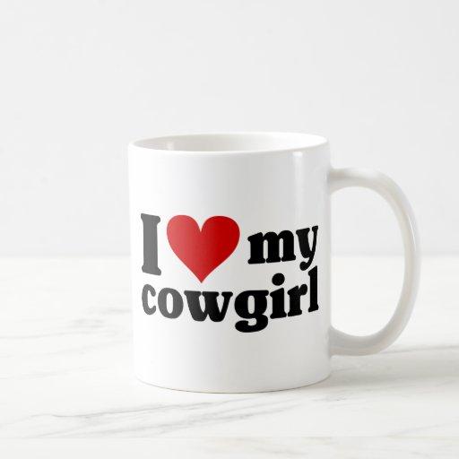 I corazón mi vaquera taza básica blanca