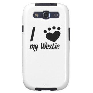 I corazón mi Westie Galaxy S3 Cárcasas