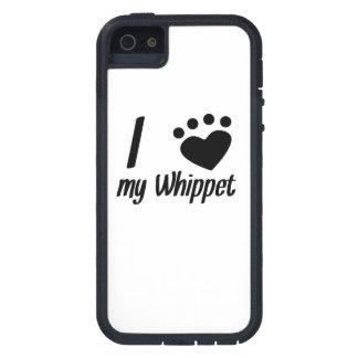 I corazón mi Whippet iPhone 5 Carcasas