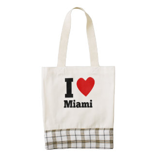 I corazón Miami Bolsa Tote Zazzle HEART