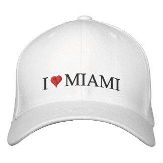 I corazón Miami Gorras De Béisbol Bordadas