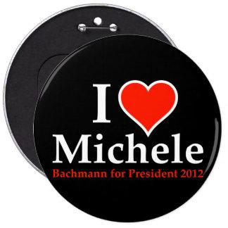 I corazón Micaela Bachmann Pin Redondo De 6 Pulgadas