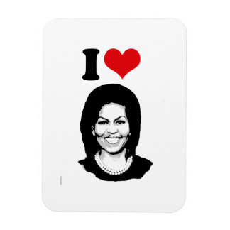 I CORAZÓN MICHELLE OBAMA 2012 - .PNG IMÁN RECTANGULAR