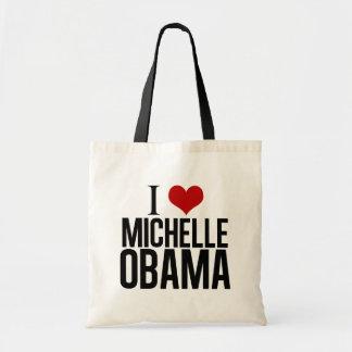 I corazón Michelle Obama Bolsa Tela Barata