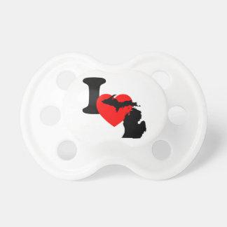 I corazón Michigan Chupete