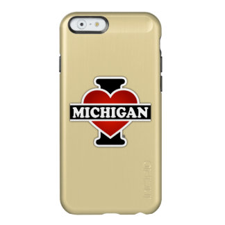 I corazón Michigan Funda Para iPhone 6 Plus Incipio Feather Shine