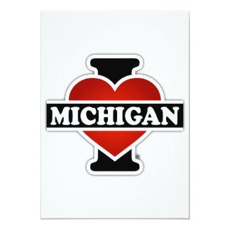 """I corazón Michigan Invitación 5"""" X 7"""""""