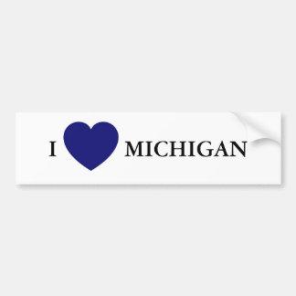 I corazón Michigan Pegatina Para Auto