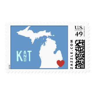 I corazón Michigan - sello adaptable de la ciudad