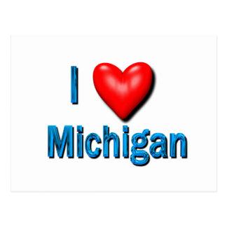 I corazón Michigan Tarjetas Postales