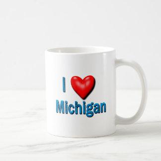 I corazón Michigan Taza De Café