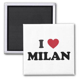 I corazón Milano Italia Imán Cuadrado