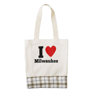 I corazón Milwaukee Bolsa Tote Zazzle HEART
