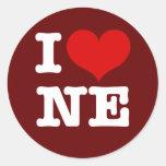 ¡I corazón Minneapolis de nordeste! Pegatina Redonda