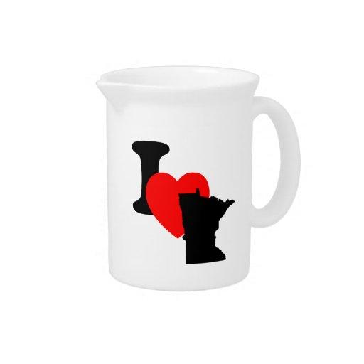 I corazón Minnesota Jarras Para Bebida