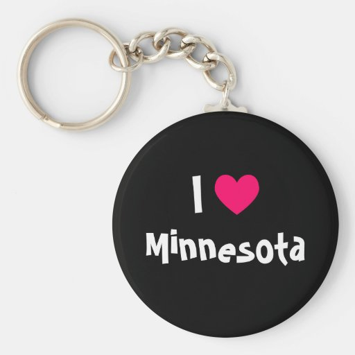 I corazón Minnesota Llavero Redondo Tipo Pin