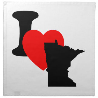 I corazón Minnesota Servilletas Imprimidas
