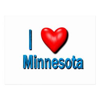 I corazón Minnesota Tarjetas Postales