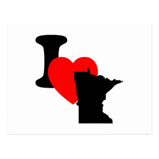I corazón Minnesota Postal