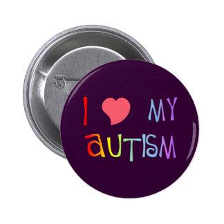 I corazón mis botones del autismo pin