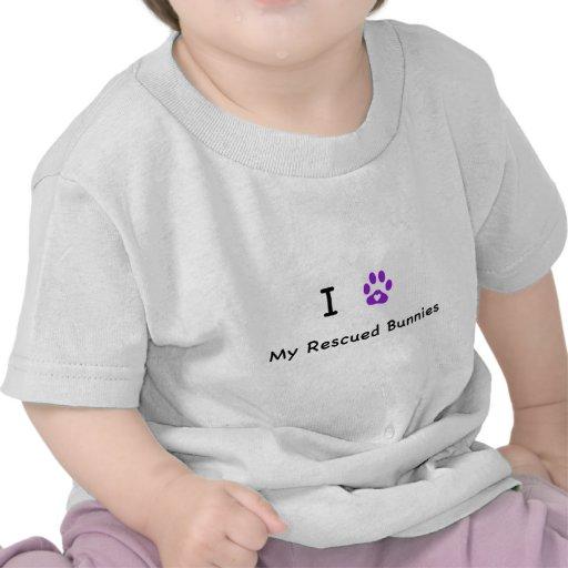 I corazón mis conejitos rescatados camisetas