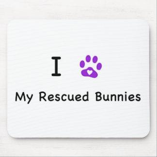 I corazón mis conejitos rescatados alfombrillas de ratones