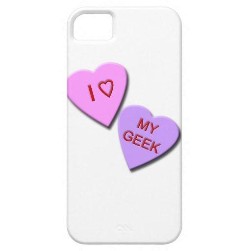 I corazón mis corazones del caramelo del friki iPhone 5 fundas