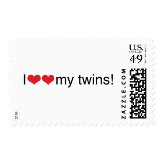 I corazón mis gemelos sello postal