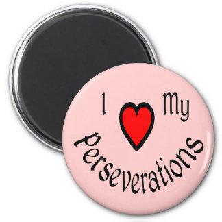 I corazón mis imanes de Perseverations Imán Redondo 5 Cm