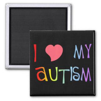 I corazón mis imanes del autismo imán cuadrado