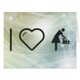 I corazón mis madres tarjeta de felicitación grande