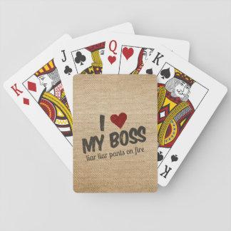 I corazón mis pantalones del mentiroso del barajas de cartas