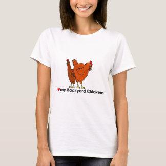 I corazón mis pollos del patio trasero playera