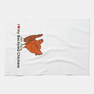 I corazón mis pollos del patio trasero toallas de mano