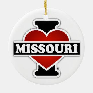 I corazón Missouri Adorno Redondo De Cerámica