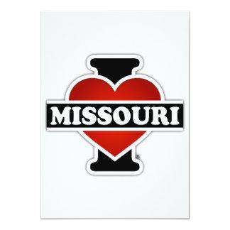 """I corazón Missouri Invitación 5"""" X 7"""""""