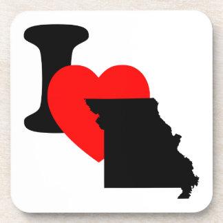 I corazón Missouri Posavasos