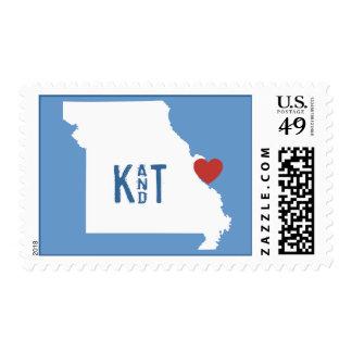 I corazón Missouri - sello adaptable de la ciudad